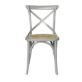 Cross Back Chair Pewter Grey