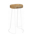 Tractor Stool White