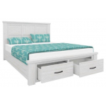 Queen Bed - Brushed White