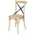 Metal Cross Back Chair - Whitewash