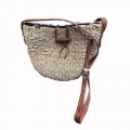 Woven Bag w/Leather Strap