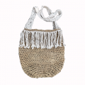 Woven Bag w/Macrame Handle