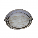 S/3 Oval Food Covers - White Wash