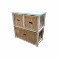 Bondi Rattan 3 Drawer Cabinet - White